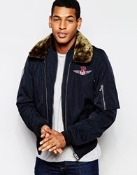 Pepe Jeans Pepe Heritage Flight Jacket Barron Memory Nylon Navy