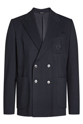 Dolce And Gabbana Jersey Double Breasted Blazer