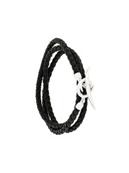 Shaun Leane Quill Wrap Bracelet Leather Sterling Silver Black