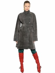 J.W.Anderson Belted Suede Coat