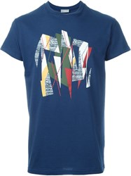 Christian Dior Dior Homme Abstract Print T Shirt Blue