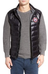 Canada Goose Men's 'Hybridge Tm Lite' Slim Fit Packable Quilted 800 Fill Down Vest Black