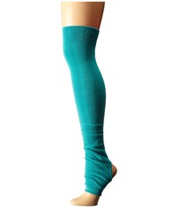 Toesox Leg Warmer Open Heel Lagoon Women's Knee High Socks Shoes Blue