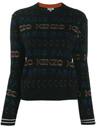 Kenzo All Over Logo Jumper Black