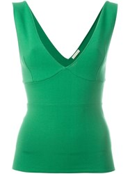 P.A.R.O.S.H. Plunging V Neck Top Green