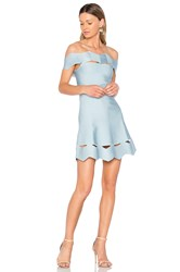 Lolitta Livia Zig Zag Fit And Flare Dress Baby Blue