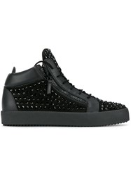 Giuseppe Zanotti Design Studded High Top Trainers Black