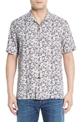 Men's Tommy Bahama 'Dundee Floral' Regular Fit Floral Short Sleeve Silk Camp Shirt