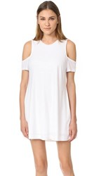 Feel The Piece Eads Cold Shoulder Dress White