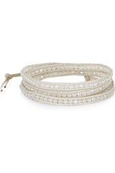 Chan Luu Cord And Beaded Bracelet White