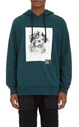 Public School Men's Abstract Graphic Cotton Hoodie Dark Green