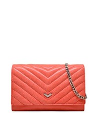 Botkier Soho Quilted Chain Leather Crossbody Peach