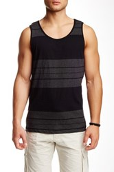Burnside Stripe Tank Black