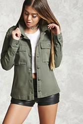 Forever 21 Button Down Utility Jacket