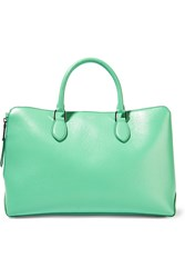 Rochas Textured Leather Tote Green