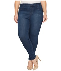 Liverpool Plus Size Sienna Pull On Leggings Silky Soft Denim In Petrol Wash Petrol Wash Women's Jeans Blue