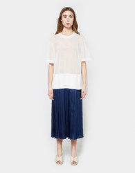 Ph5 Amara Pleated Dress White Navy