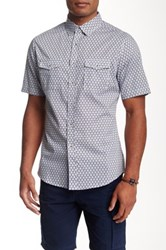 Smash Circle Print Short Sleeve Relaxed Fit Shirt White