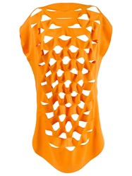 Gloria Coelho Cut Out Details Blouse Yellow And Orange