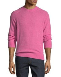 Tom Ford Super Soft Wool Blend Crewneck Sweater Bright Pink