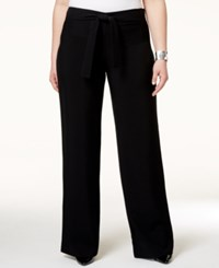 Alfani Plus Size Belted Wide Leg Pants Only At Macy's Deep Black