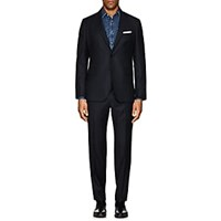 John Vizzone Checked Wool Two Button Suit Navy