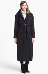 London Fog Women's Long Trench Coat With Detachable Hood And Liner