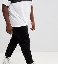 Jacamo Wide Leg Tapered Chino Trousers In Black