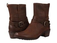 Ugg Lorraine Chocolate Water Resistant Leather Women's Dress Pull On Boots Brown