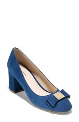 Cole Haan 'S Tali Bow Pump Navy Suede