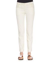 The Row Norland Skinny Corduroy Pants Natural