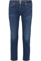Citizens Of Humanity Emerson Cropped Slim Boyfriend Jeans Dark Denim