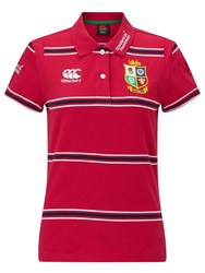 Canterbury Of New Zealand British And Irish Lions Rugby Polo Shirt Red