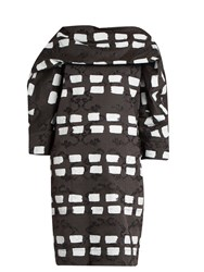 Vivienne Westwood Bond Dash Print Cady Dress Black White