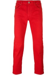 Diesel Black Gold Stretch Skinny Jeans Red