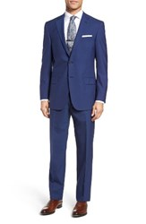 Hart Schaffner Marx Men's Big And Tall Classic Fit Solid Wool Suit Dark Blue