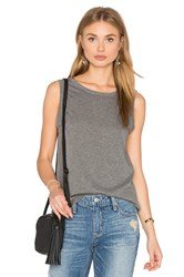 Velvet By Graham And Spencer Taurus Crew Neck Tank Charcoal