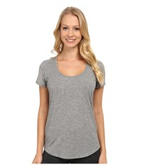Lucy S S Workout Tee Asphalt Heather Women's Workout Gray