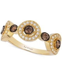 Le Vian Chocolatier Chocolate Deco Diamond Circle Ring 5 8 Ct. T.W. In 14K Gold No Color