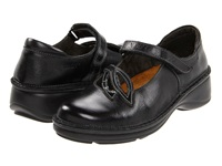 Naot Footwear Primrose Black Madras Leather Black Crinkle Patent Leather Women's Maryjane Shoes