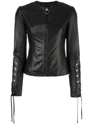 Philipp Plein Lace Up Jacket Black