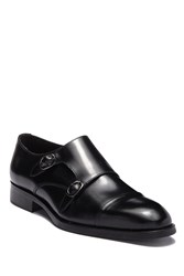 To Boot Barata Leather Double Monkstrap Loafer Black