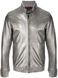 Loveless Ribbed Trim Jacket Silver