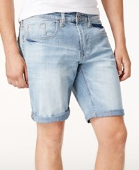 Buffalo David Bitton Men's Slim Fit Six X Denim Shorts Light Wash