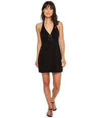 08c381767a Polo Ralph Lauren Iconic Terry Grommet Halter Dress Cover Up Black Swimwear