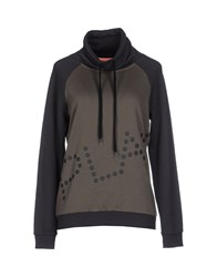 Only Play Topwear Sweatshirts Women Military Green