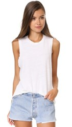 Re Done X Hanes Muscle Tank Vintage White
