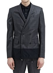 Kolor Double Breasted Wool Jacket Grey