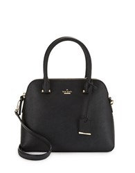 Kate Spade Maise Leather Dome Satchel Black