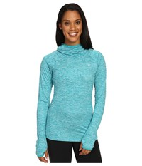 Nike Dry Element Running Hoodie Teal Charge Heather Reflective Silver Women's Sweatshirt Blue